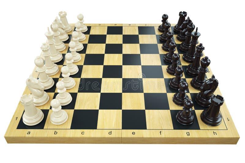 Диаграммы шахматной доски и шахмат игры иллюстрация вектора