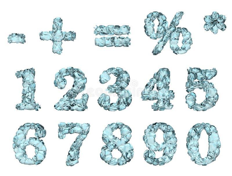 Диаграммы льда иллюстрация вектора