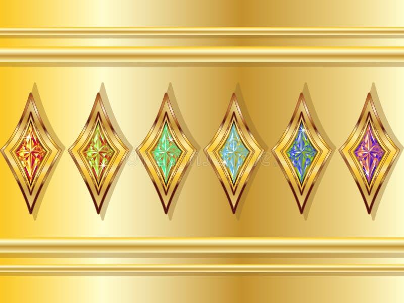 диаманты выдуманные иллюстрация штока
