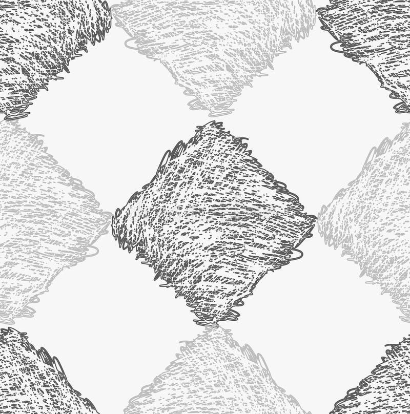 Диаманты насиженные карандашем серые бесплатная иллюстрация