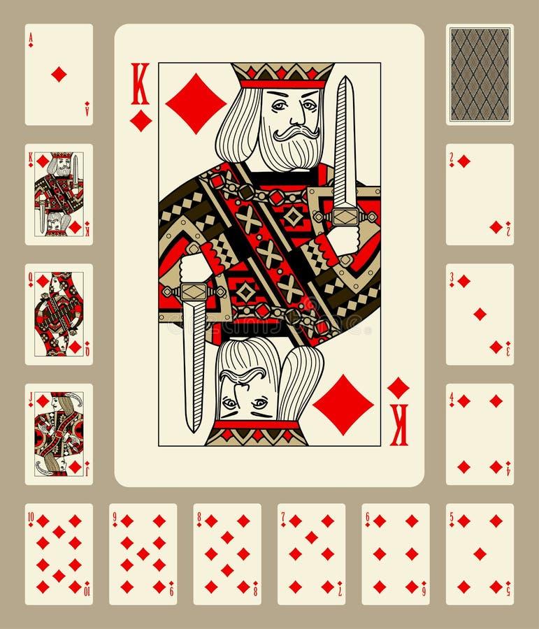 Диаманты одевают играя карточки бесплатная иллюстрация