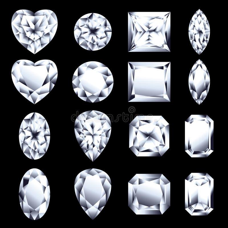 диаманты иллюстрация вектора