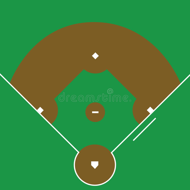 диамант бейсбола иллюстрация вектора