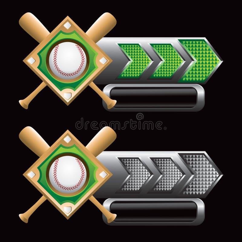 диамант бейсбольных бита стрелок checkered иллюстрация штока
