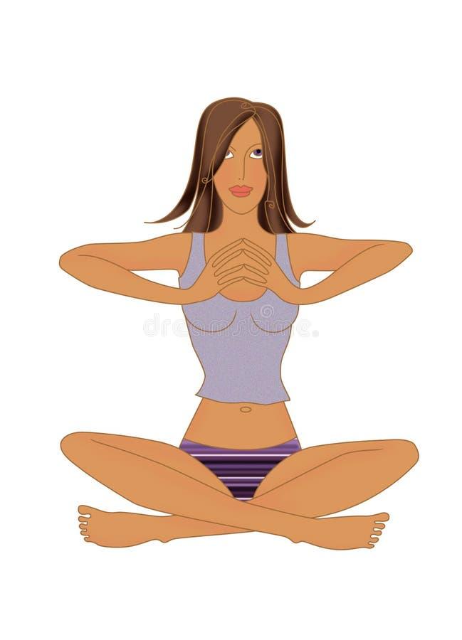 Диамант тренировки Bodyflex, девушка выполняет систему Bodyflex диаманта тренировки бесплатная иллюстрация