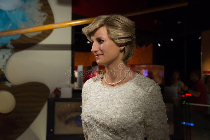 Диана, принцесса Уэльс в музее Мадам Tussauds стоковая фотография