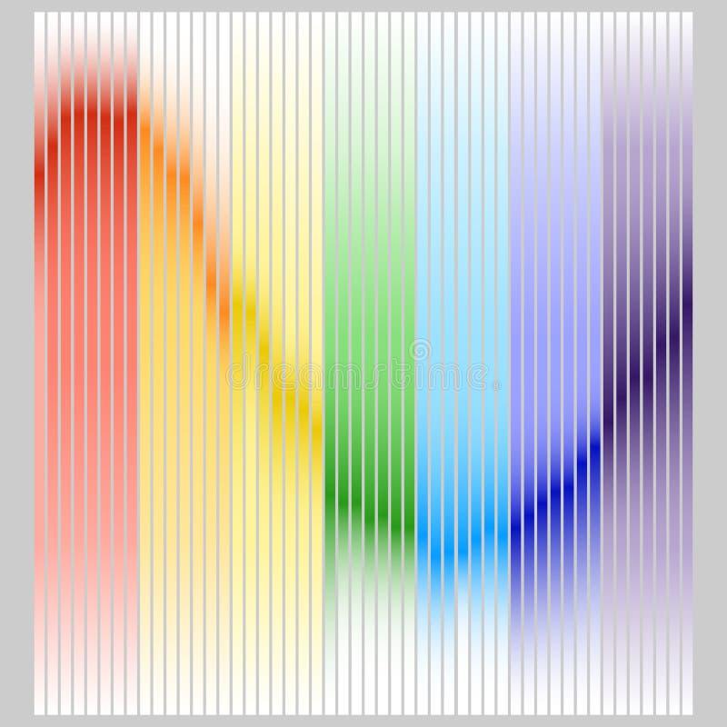 Диапазон цвета выравнивателя в цветах радуги Выравниватель цвета на серой предпосылке бесплатная иллюстрация
