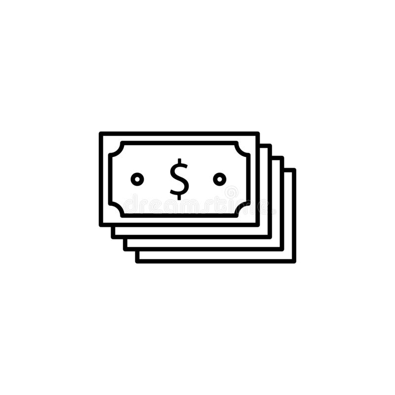 Диверсификация дела, диверсификация денег, значок финансового планирования Элемент иллюстрации диверсификации денег знаки и иллюстрация вектора