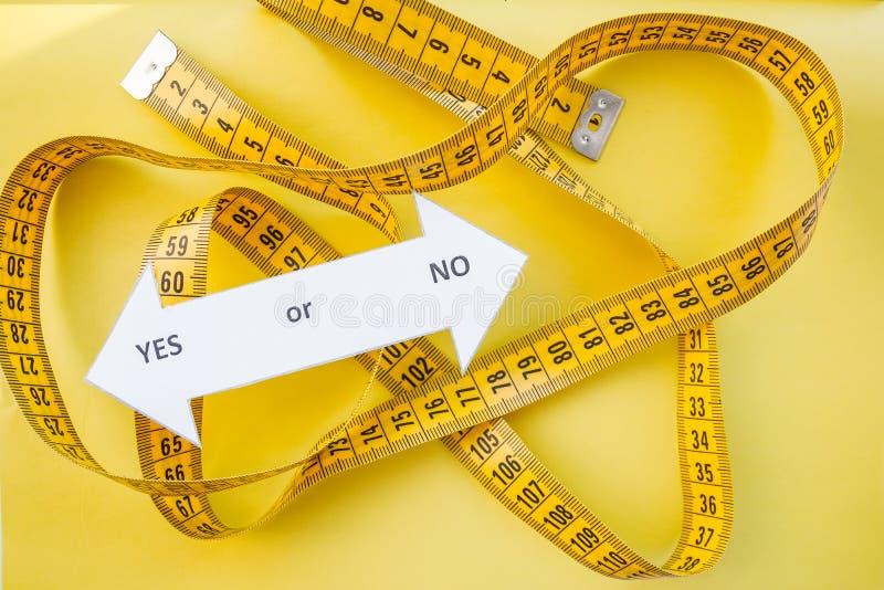 Диета и здоровая концепция жизни Масштаб веса, измерение диета уменьшая, взгляд сверху женщин , диета, мечта, который нужно быть  стоковая фотография