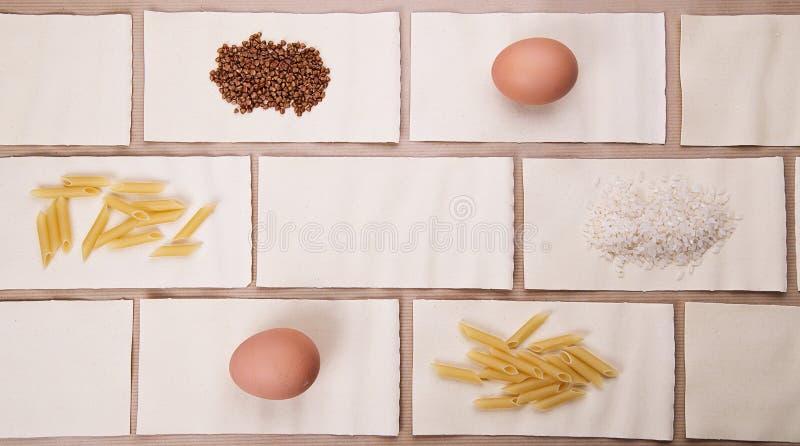 Диетическая еда Набор диетических продуктов стоковая фотография