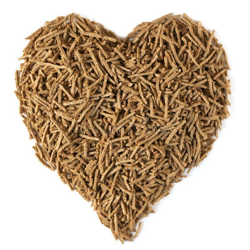 диетическое сердце здоровья волокна стоковая фотография