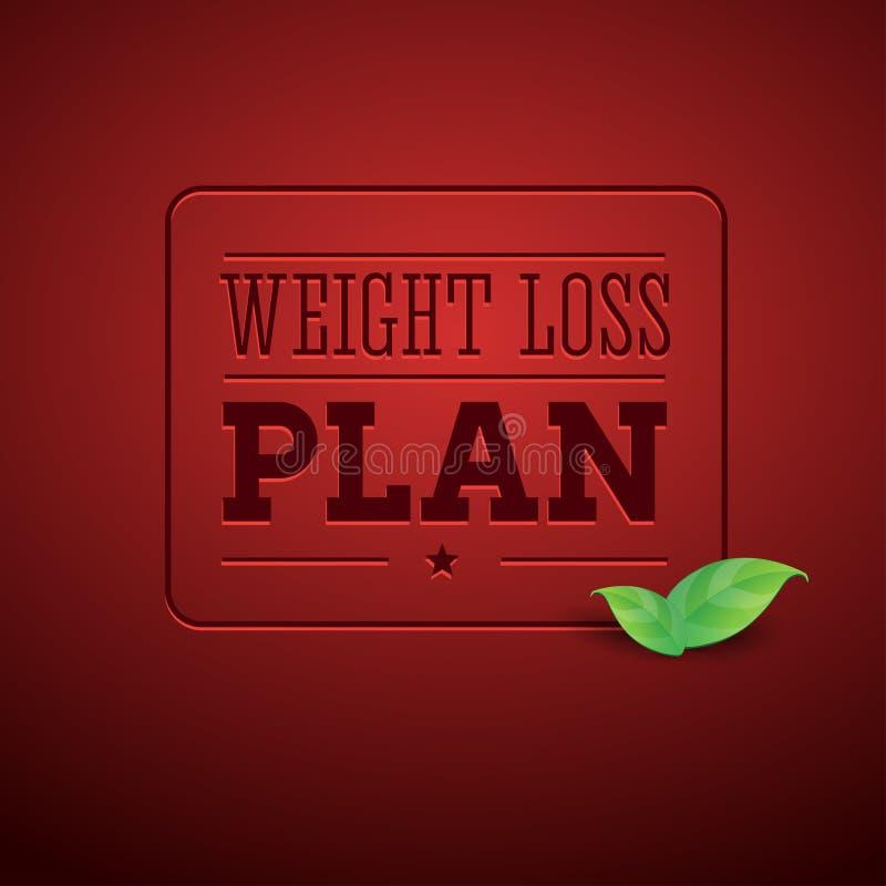 Диетпитание плана потери веса иллюстрация вектора