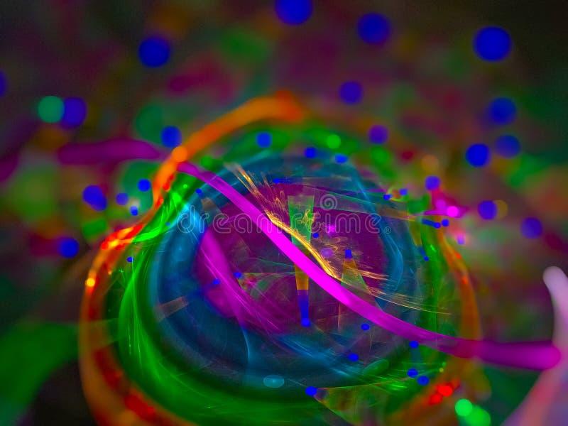 Дизайна влияния конспекта цифров диско будущего живого уникального красивого фантастического сияющее уникальное стоковые изображения