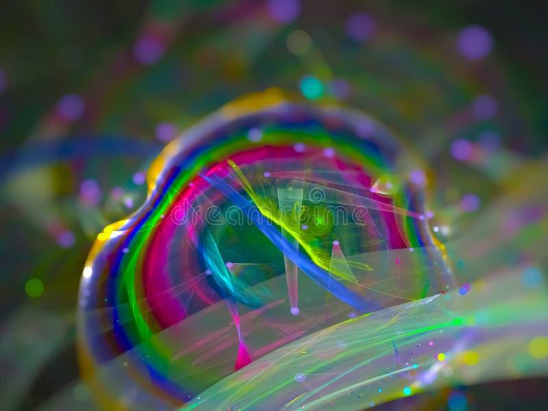 Дизайна стиля влияния конспекта цифров диско будущего живого уникального красивого фантастического сияющее уникальное стоковое изображение