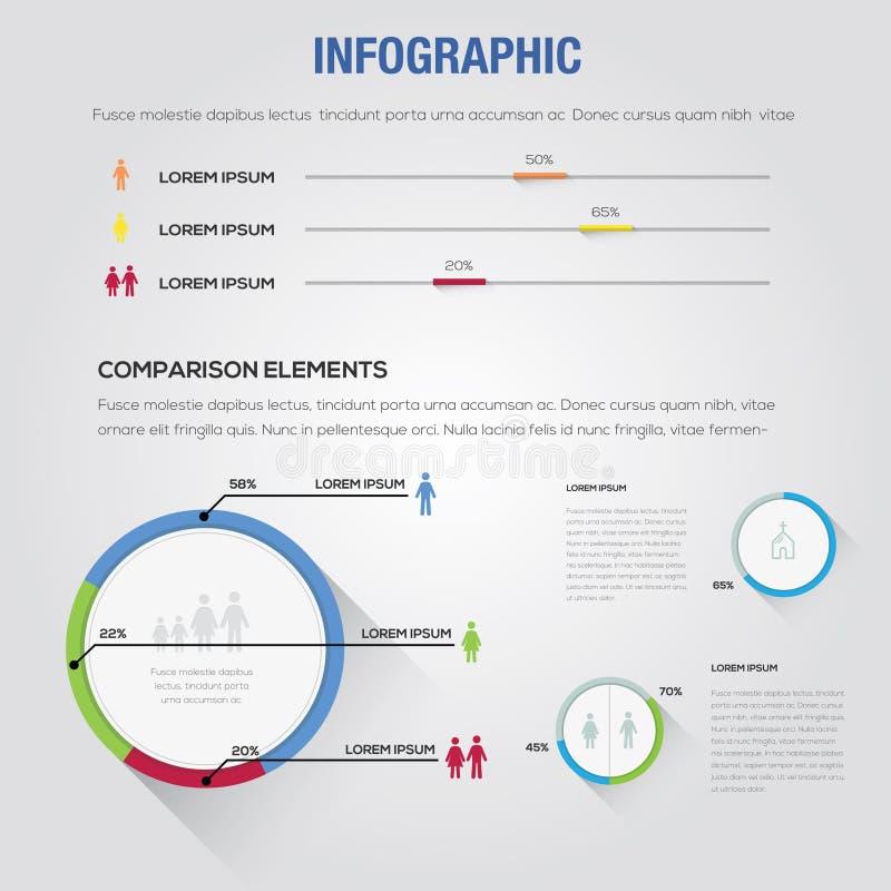 Дизайна Infographic значка бизнесмены шаблона компьютера стоковая фотография
