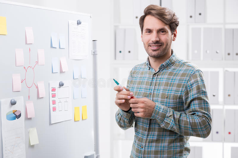Дизайнерский подготавливайте для того чтобы делить его идеи стоковое изображение