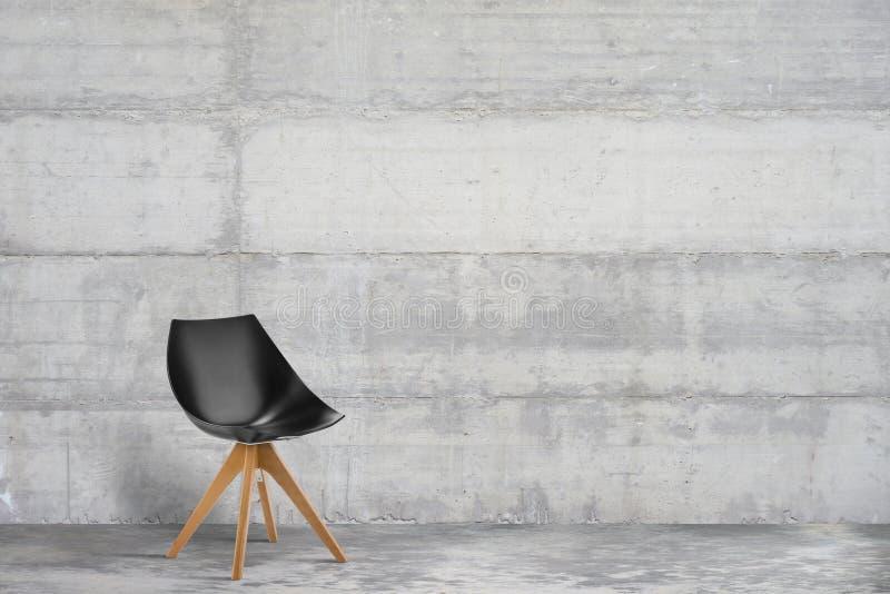 Дизайнерское, современное кресло в сером цвете, интерьере стиля просторной квартиры стоковые изображения rf