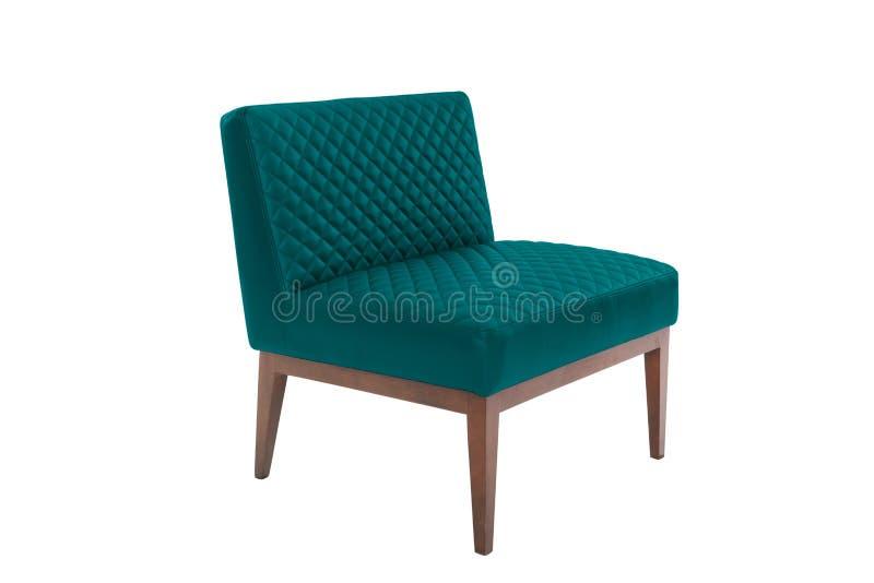 дизайнер кожаного и деревянного кресла современный стоковое фото