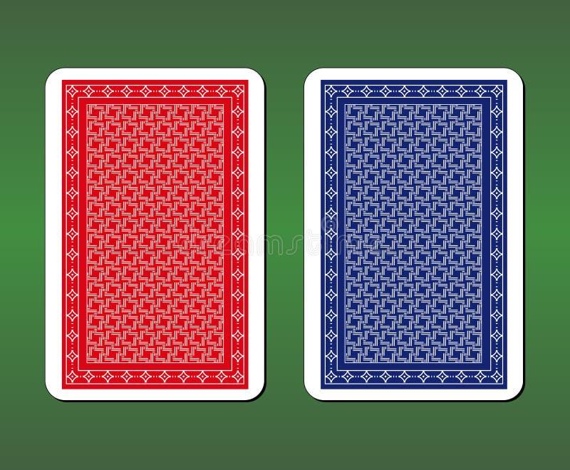 Дизайны задней части играя карточки стоковое изображение
