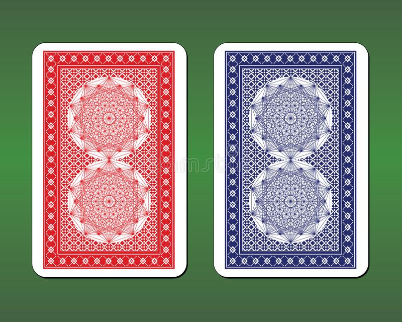 Дизайны задней части играя карточки стоковая фотография