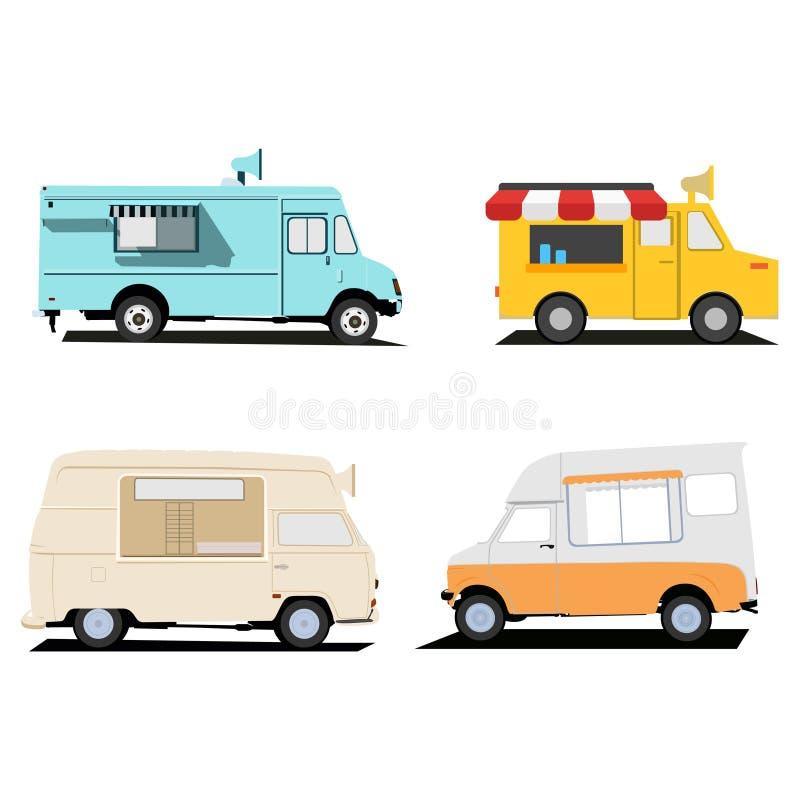 Дизайны иллюстрации тележки еды иллюстрация штока