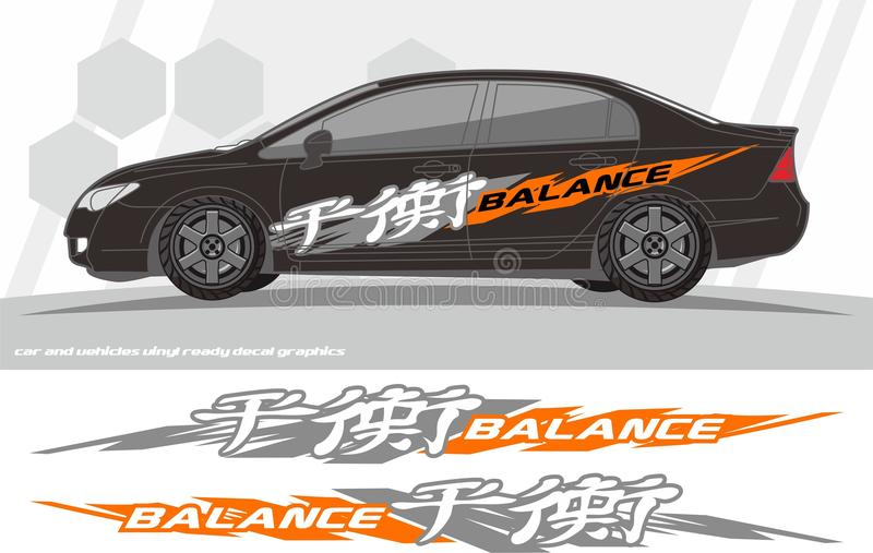Дизайны набора графиков этикеты автомобиля и кораблей подготавливайте для того чтобы напечатать и отрезать для стикеров винила иллюстрация штока