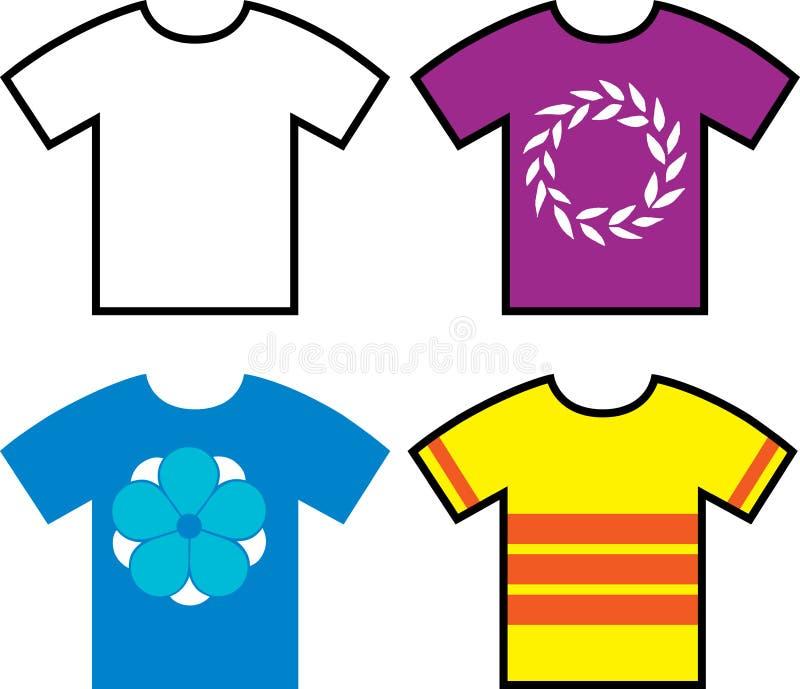 Дизайны футболки иллюстрация штока