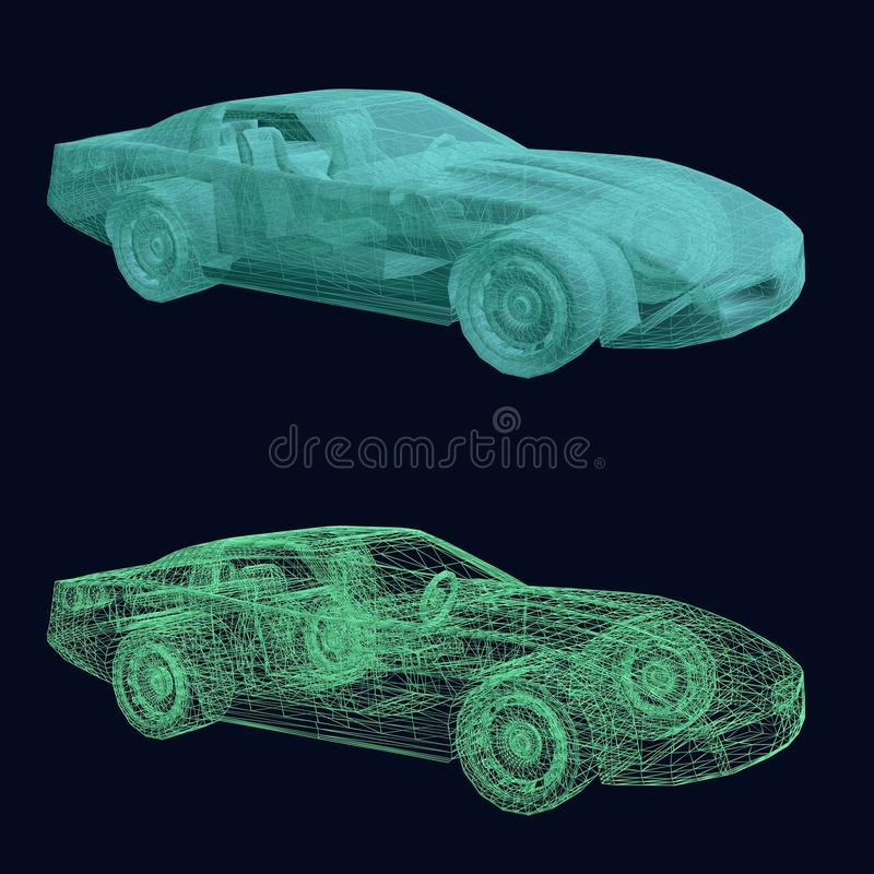 Дизайн автомобиля спорт иллюстрация вектора