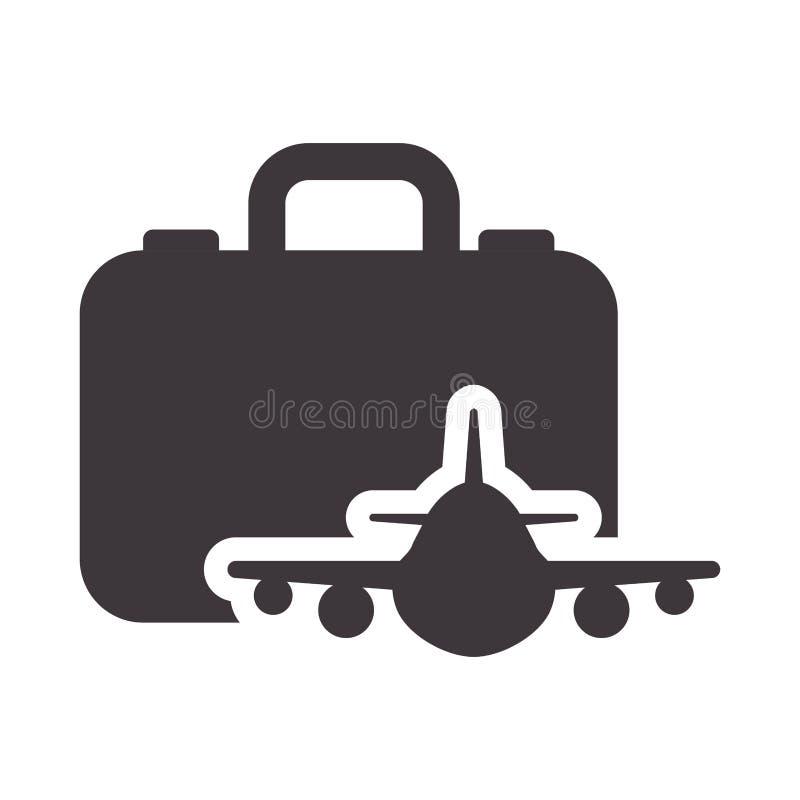 Дизайн аппаратуры багажа чемодана иллюстрация штока