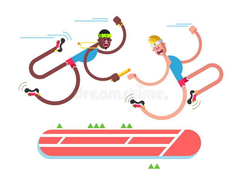 Дизайн атлетики реле иллюстрация вектора