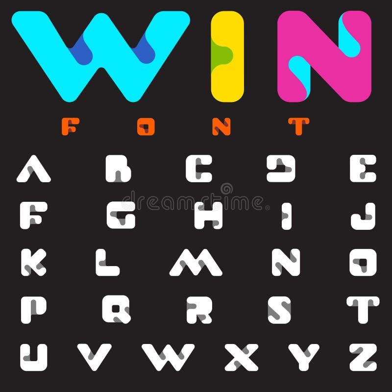Дизайн алфавита науки технологии вектора шрифта Логотип письма Abc иллюстрация штока