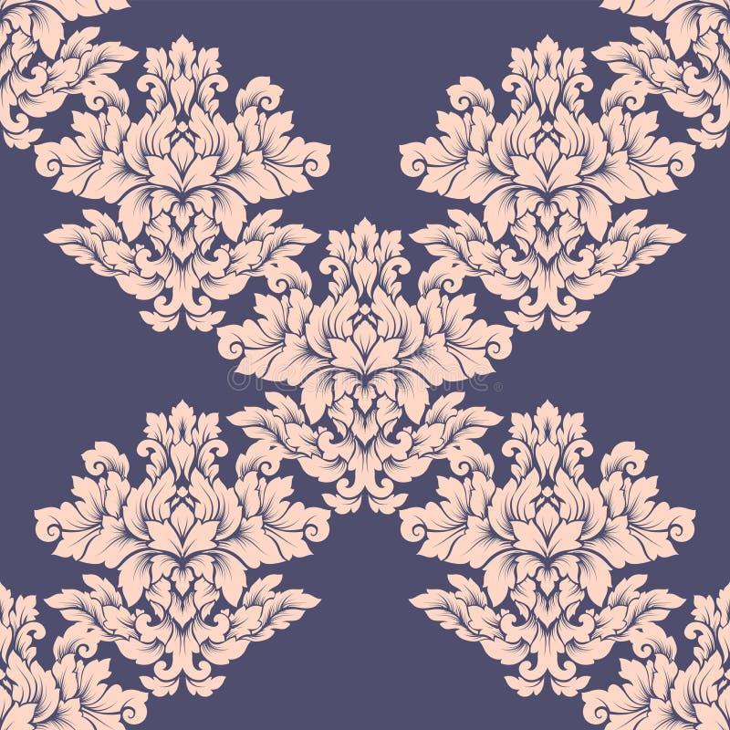 Дизайн безшовной картины штофа затейливый Роскошный королевский орнамент, викторианская текстура для обоев, ткань, оборачивая Вос стоковое изображение