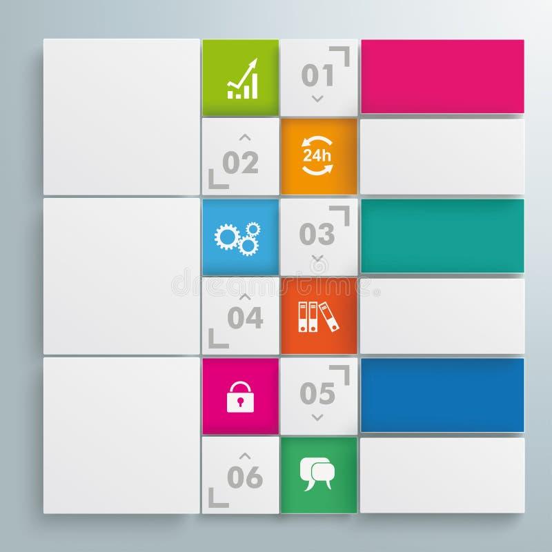 Дизайн белых квадратов шаблона вебсайта иллюстрация штока