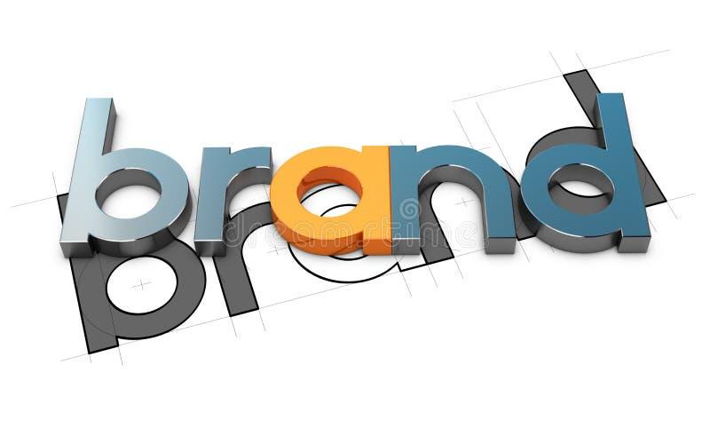 Дизайн бренда иллюстрация штока