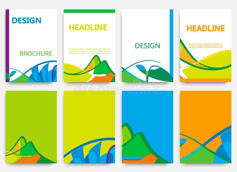 Дизайн брошюры в стиле лета стоковое фото