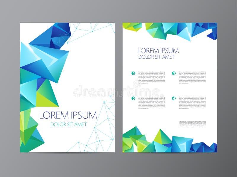 Дизайн брошюры рогульки абстрактного вектора современный иллюстрация штока