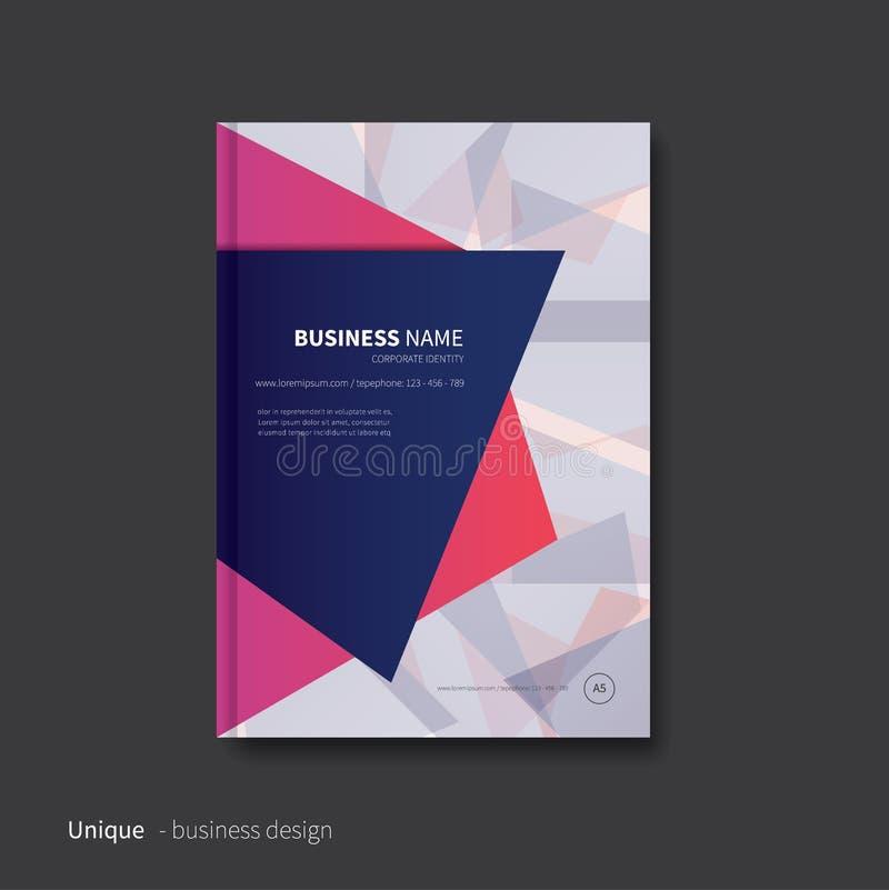 Дизайн брошюры для дела иллюстрация вектора