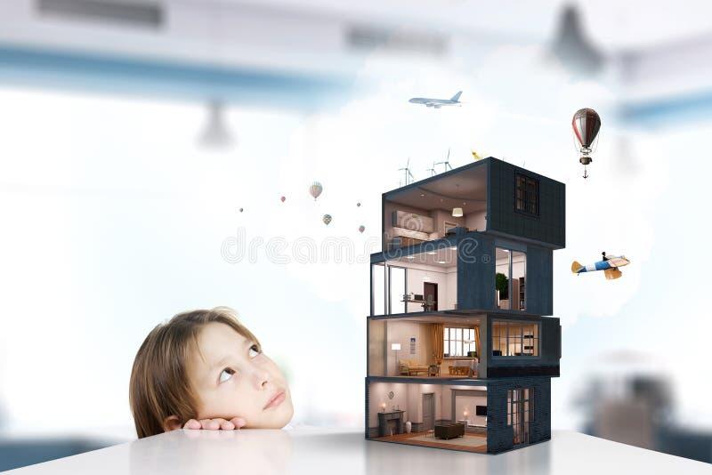 Дизайн вашего дома мечты Мультимедиа стоковые фотографии rf