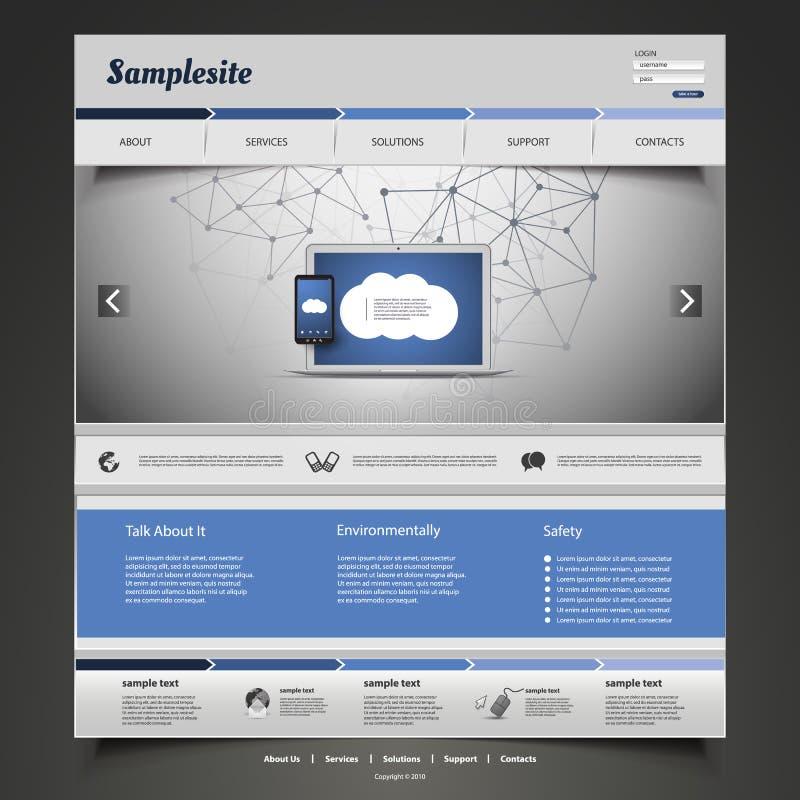 Дизайн вебсайта для вашего дела иллюстрация вектора