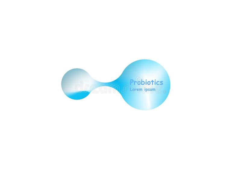 Дизайн вектора бактерий Probiotics Концепция дизайна с бактериями лактобациллы Probiotic Дизайн шаблона с иллюстрация штока