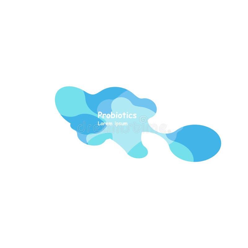 Дизайн вектора бактерий Probiotics Дизайн вектора бактерий Probiotics Концепция дизайна с лактобациллой Probiotic бесплатная иллюстрация