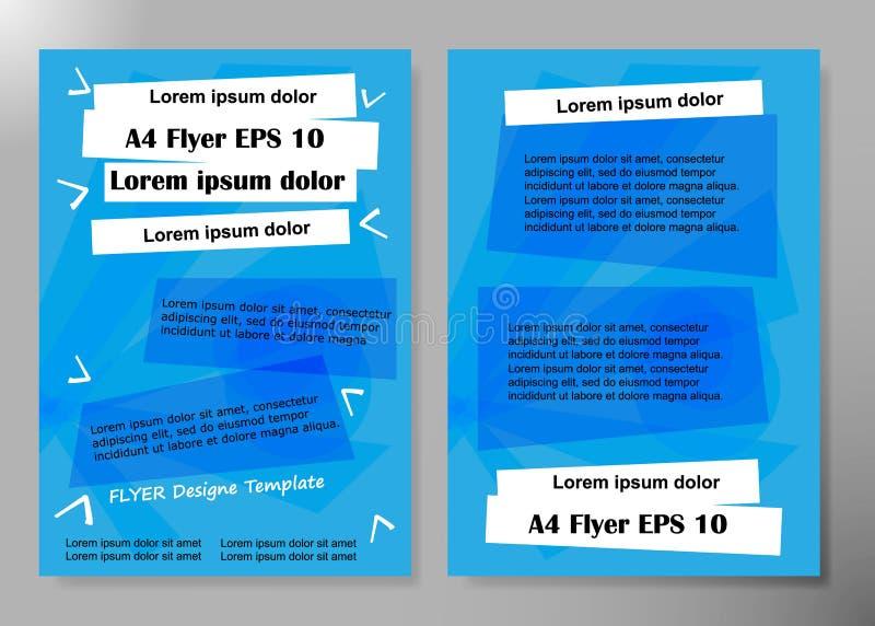 Дизайн вектора брошюры дела крышки рогульки, листовка рекламируя абстрактную предпосылку, современный шаблон плана кассеты плакат бесплатная иллюстрация