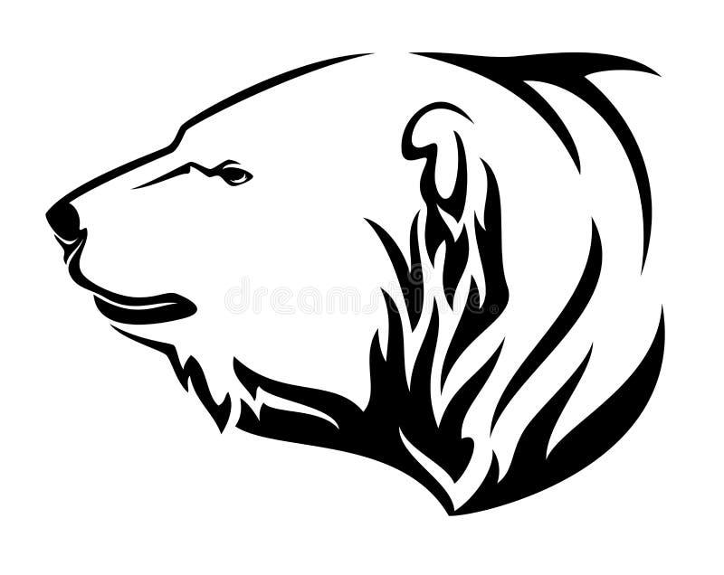 Дизайн вектора головы профиля полярного медведя иллюстрация вектора