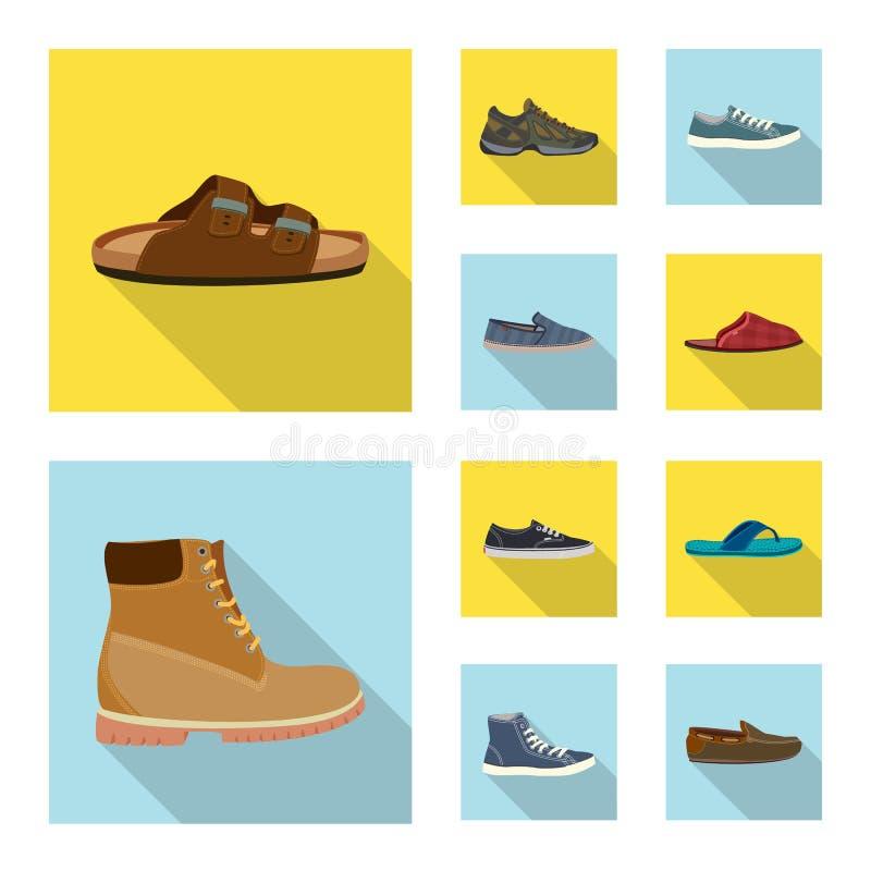 Дизайн вектора знака ботинка и обуви r иллюстрация штока