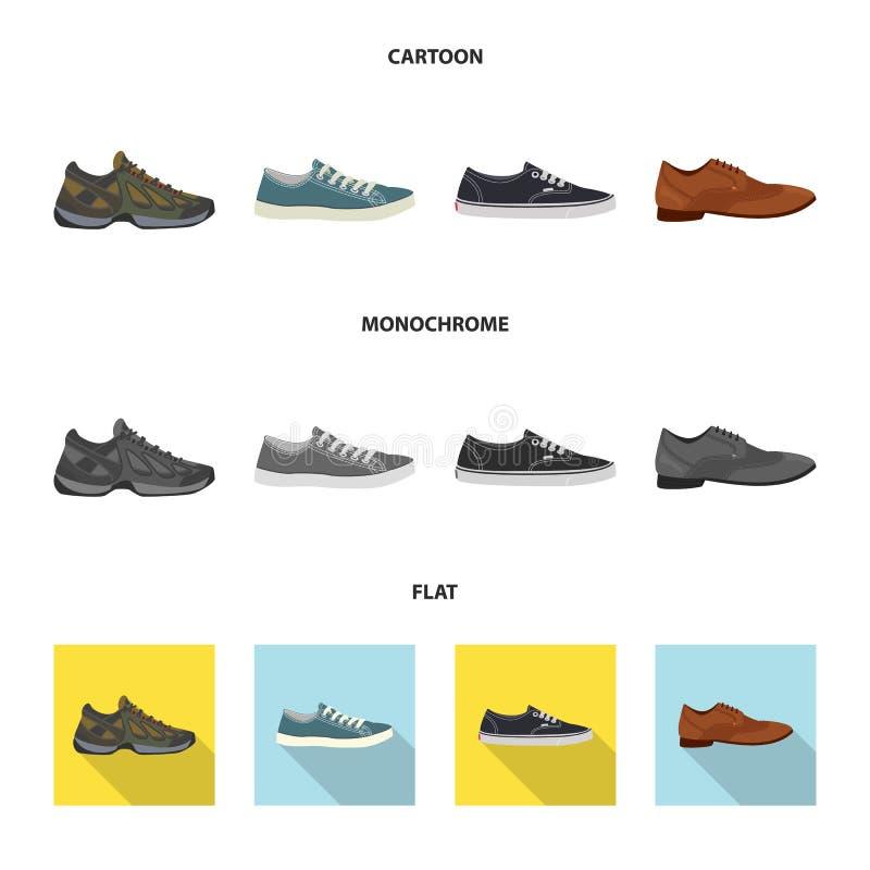 Дизайн вектора знака ботинка и обуви r иллюстрация вектора