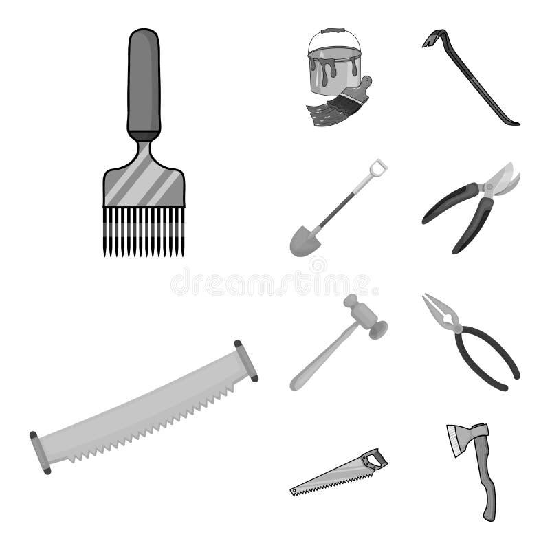 Дизайн вектора знака инструмента и конструкции Собрание инструмента и значок вектора плотничества для запаса иллюстрация штока