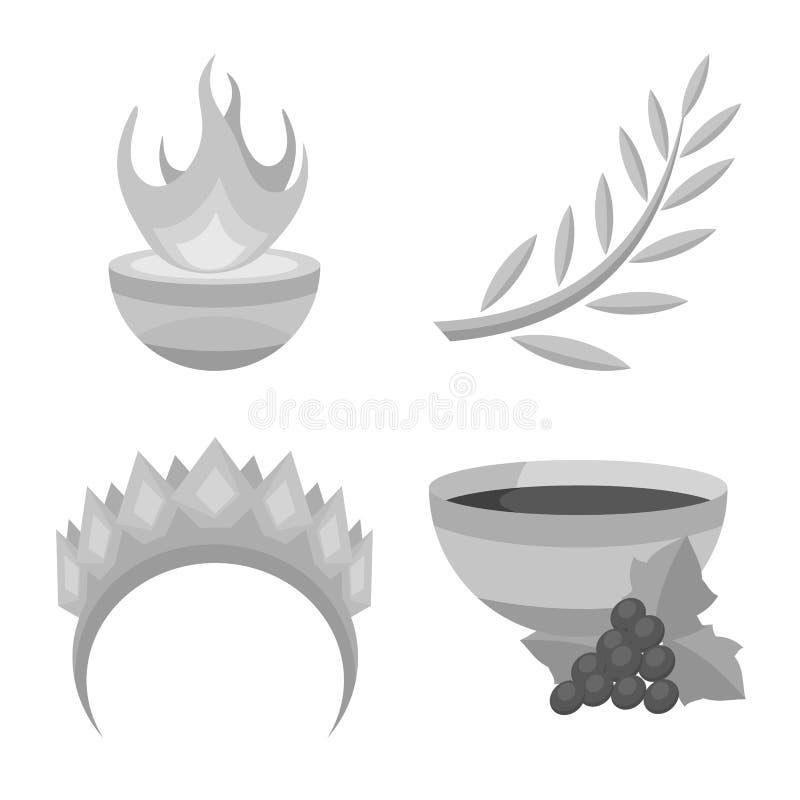 Дизайн вектора знака старого и культуры Собрание старого и античного сокращенного названия выпуска акций для сети иллюстрация вектора