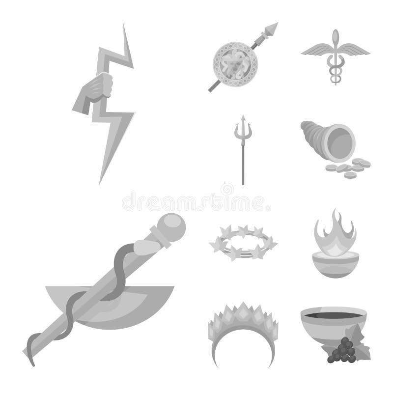 Дизайн вектора знака старого и культуры Собрание старой и античной иллюстрации вектора запаса иллюстрация вектора
