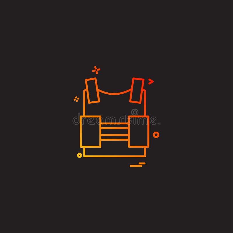дизайн вектора значка жилета революции предохранения от бронежилета иллюстрация штока
