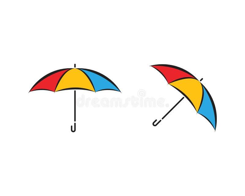 Дизайн вектора значка зонтика бесплатная иллюстрация